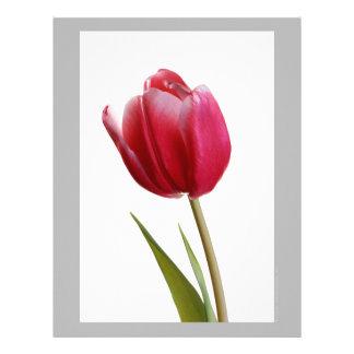 Red Tulip Custom Letterhead