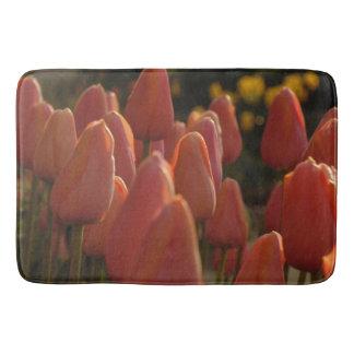 Red tulip flower -bathroom mat bathroom mat