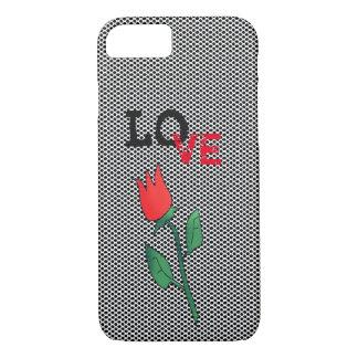 Red Tulip Flower Cartoon Love Romantic Simple Chic Case-Mate iPhone Case