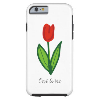 Red tulip flower iPhone 6 case | personalizable