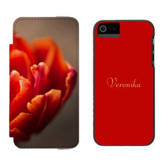 Red tulip incipio watson™ iPhone 5 wallet case