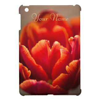 Red tulip iPad mini cover