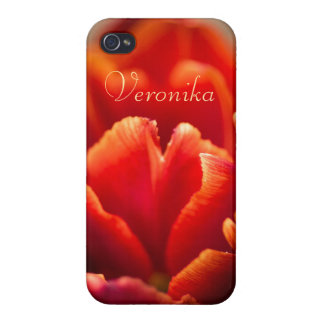 Red tulip iPhone 4/4S case