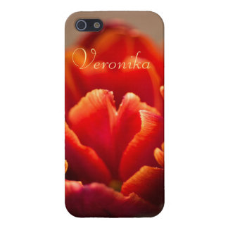Red tulip iPhone 5 cases