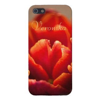 Red tulip iPhone 5 cover