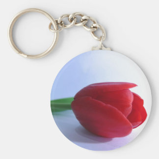 Red Tulip Key Chain