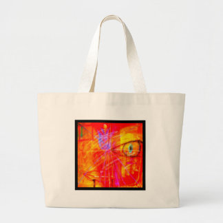Red Tulip Lady Abstract Art bright red stunning. Jumbo Tote Bag