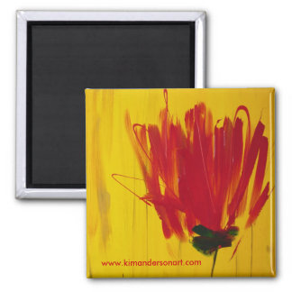 Red Tulip Magnet