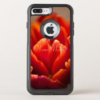 Red tulip OtterBox commuter iPhone 8 plus/7 plus case