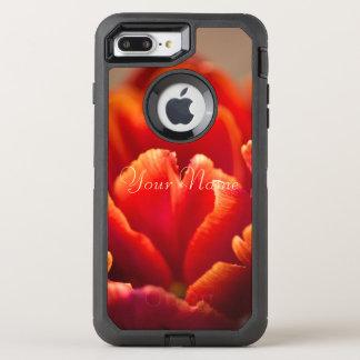 Red tulip OtterBox defender iPhone 8 plus/7 plus case