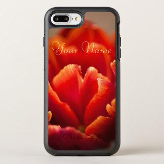 Red tulip OtterBox symmetry iPhone 8 plus/7 plus case