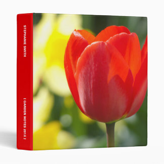 Red Tulip Personalized 3 Ring Binder