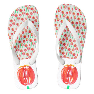 Red Tulip Shoes Flip Flops