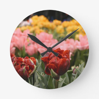 Red Tulip Wallclock
