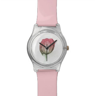 Red tulip watch