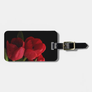 Red Tulips Bag Tag