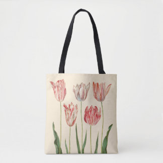 Red Tulips by Holtzbecher Tote Bag