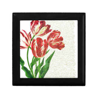 Red Tulips Calligraphy Gift Box