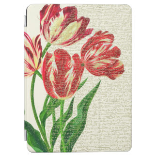 Red Tulips Calligraphy iPad Air Cover