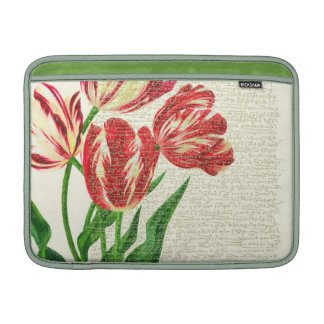 Red Tulips Calligraphy MacBook Air Sleeve