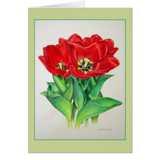 Red Tulips Card