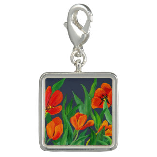 Red Tulips Charm