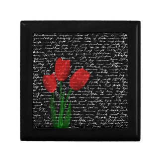 Red tulips gift box