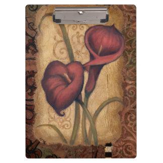 Red Tulips II Clipboards