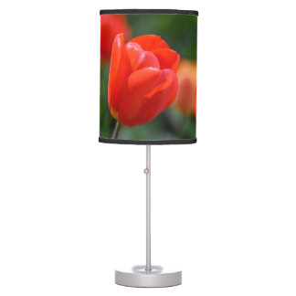 Red Tulips in the Garden Table Lamp