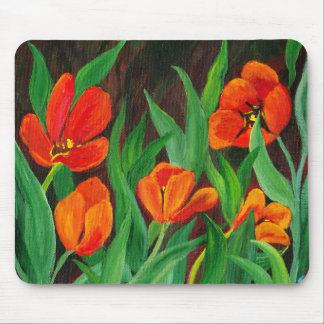 Red Tulips Mouse Pad