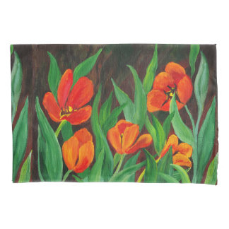 Red Tulips Pillowcase