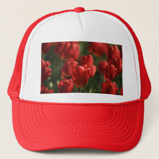 Red Tulips Trucker Hat