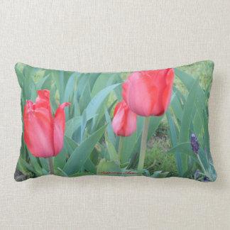 Red Tullip Lumbar Lumbar Pillow