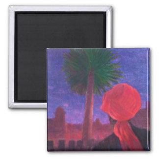 Red Turban dusk Jodhpur 2012 Magnet