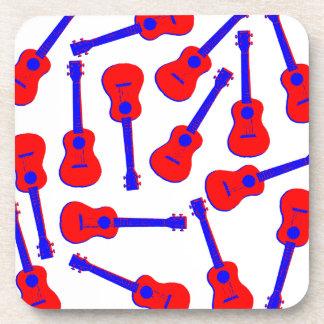 Red Ukulele Coaster