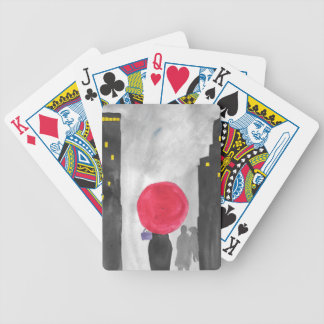 Red Umbrella Bicycle Playing Cards