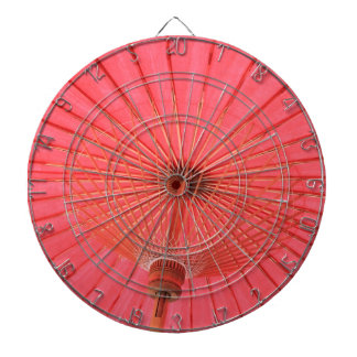 Red umbrella dartboard