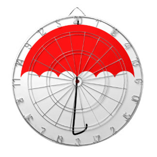 Red umbrella dartboard
