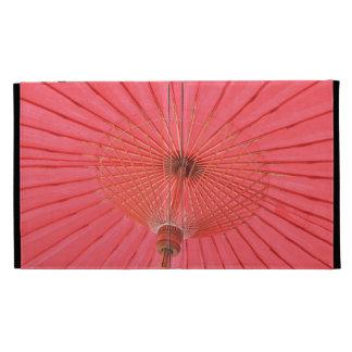 Red umbrella iPad folio cover