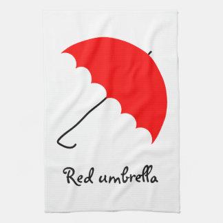 Red umbrella kitchen towel