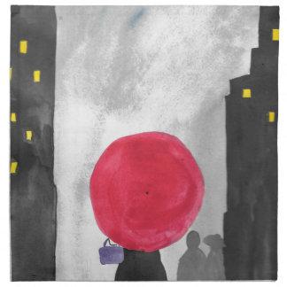 Red Umbrella Napkin