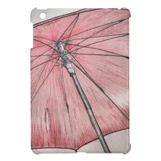 Red Umbrella Sketch iPad Mini Cases