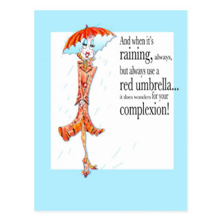 Red Umbrella Vanity Inspiration postcard