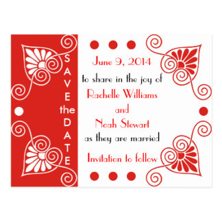 Red-Unique Save The Date Postcards