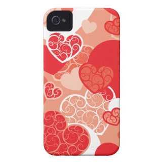Red Valentine Heart pattern Case-Mate iPhone 4 Case