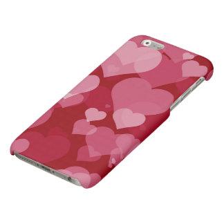 Red Valentine Hearts Matte iPhone 6 Case