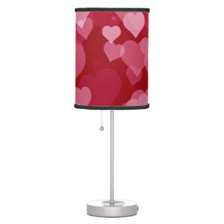Red Valentine Hearts Table Lamp