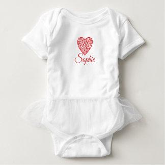 Red Valentine's Heart Baby Bodysuit