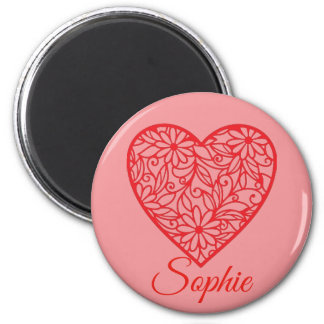 Red Valentine's Heart Personnalised Magnet