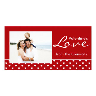 Red Valentine's Love Picture Card